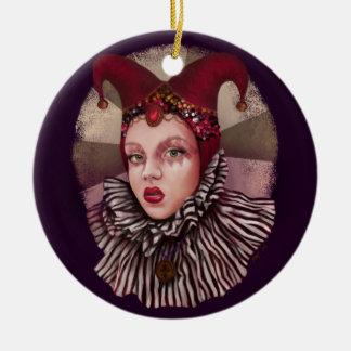 Harlequin Jester  Christmas Ornament