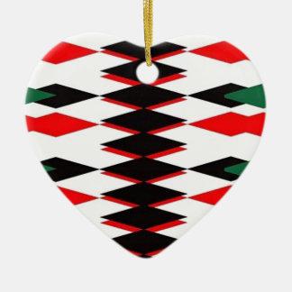 Harlequin Jokers Deck Ceramic Heart Decoration