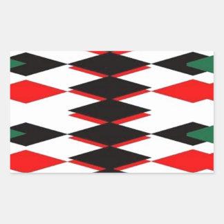 Harlequin Jokers Deck Rectangular Sticker