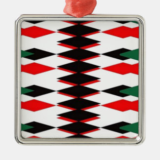 Harlequin Jokers Deck Silver-Colored Square Decoration