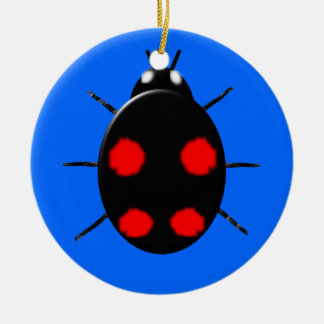 Harlequin Ladybird Kids Custom Birthday Christmas Ornament