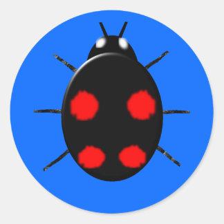 Harlequin Ladybird Sticker