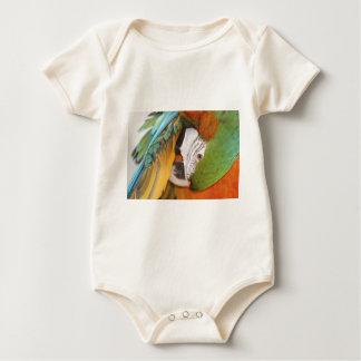 Harlequin macaw baby bodysuit