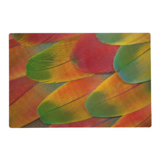 Harlequin Macaw parrot feathers Laminated Placemat