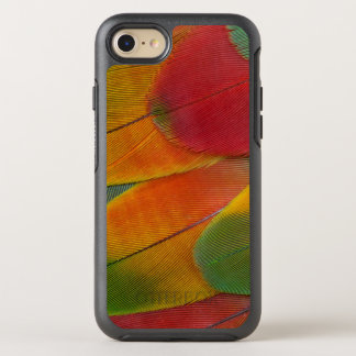 Harlequin Macaw parrot feathers OtterBox Symmetry iPhone 7 Case