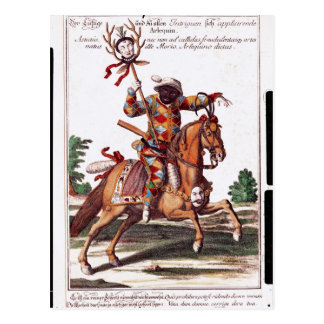 Harlequin on Horseback Postcard