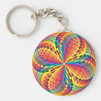 harlequin optical illusion keychains