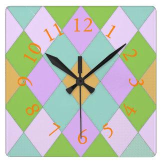 Harlequin_Palace_Courtyard* Colors Clock