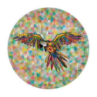 harlequin parrot cutting board