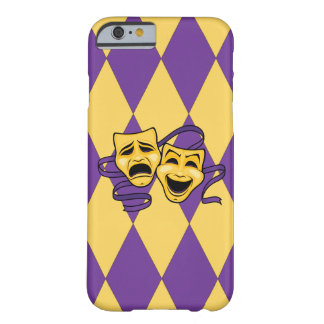 Harlequin Pattern Theatre Masks iPhone Case Barely There iPhone 6 Case