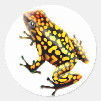 Harlequin Poison Frog Round Sticker