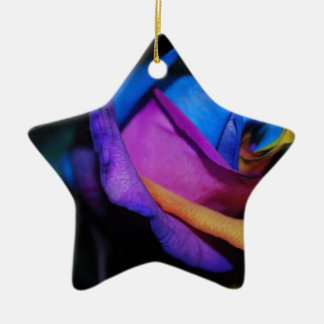Harlequin Rose Christmas Ornament