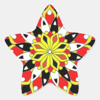 Harlequin Star Star Sticker