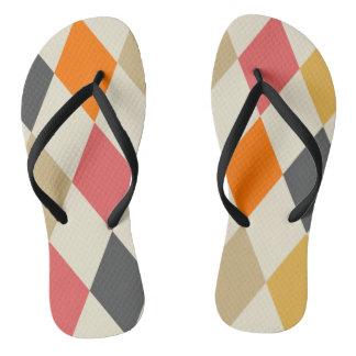 Harlequin Style Flip Flops
