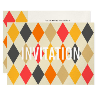 Harlequin Style | Party Invitation