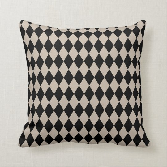 Harlequin Tan and Black Cushion