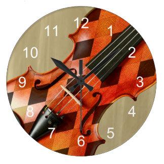 Harlequin Violin Large Clock