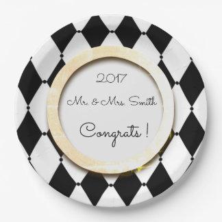 Harlequin_Wedding_Multi-Celebration_Template 9 Inch Paper Plate