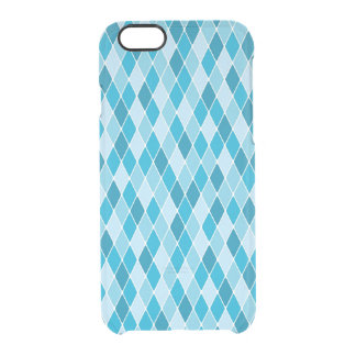 Harlequin winter pattern clear iPhone 6/6S case