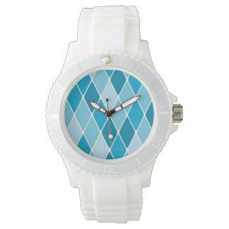 Harlequin winter pattern wristwatches