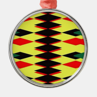 Harlequin Yellow Jokers Deck Silver-Colored Round Decoration