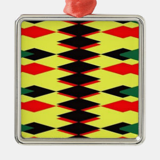 Harlequin Yellow Jokers Deck Silver-Colored Square Decoration