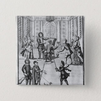 Harlequin's Lottery 15 Cm Square Badge