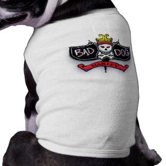 Harley - Airbrushed Name Bad Dog Skull & Crossbone Sleeveless Dog Shirt