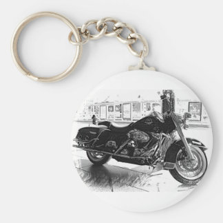 Harley Basic Round Button Key Ring