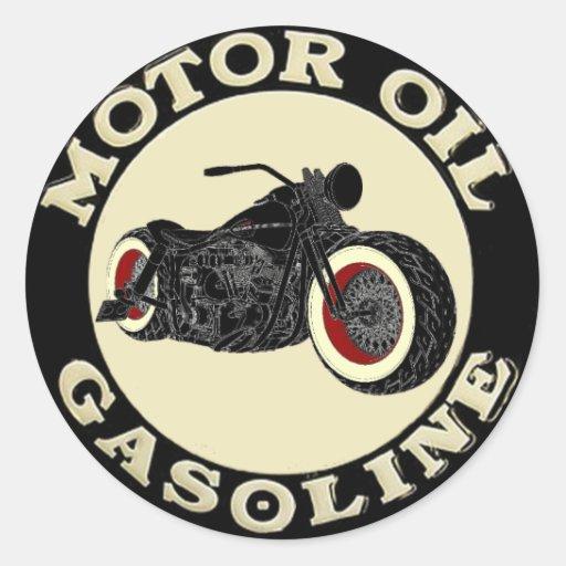 Harley Davidson - Bobber - engine oil - Gasoline Round Sticker