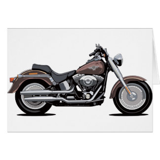 Harley Davidson Fat Boy Card