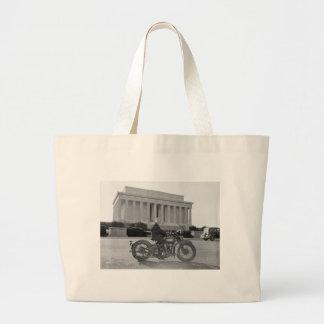 Harley Davidson Motorcycle - First Woman Large Tote Bag