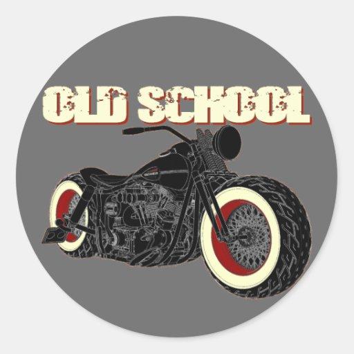 Harley Davidson - old School Bobber-3 Stickers