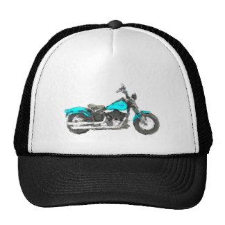 Harley FLSTSB Cross Bones Hand Painted Art Hat