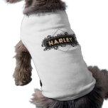 Harley - Pet Dog T-Shirt - Black Paw Prints Design