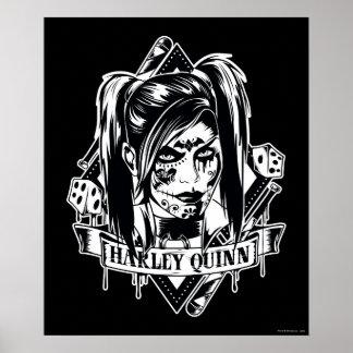 Harley Quinn Badge Poster