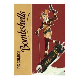 Harley Quinn Bombshells Pinup 13 Cm X 18 Cm Invitation Card