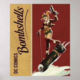 Harley Quinn Bombshells Pinup Poster