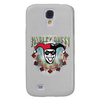 Harley Quinn - Face and Logo Galaxy S4 Case