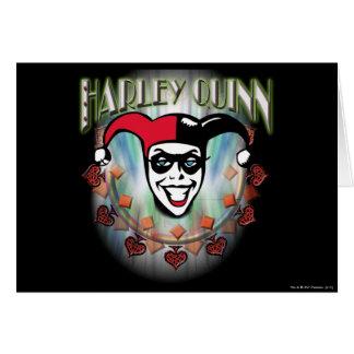 Harley Quinn - Face and Logo Greeting Card