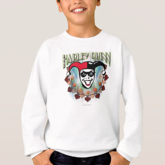 Harley Quinn - Face and Logo Sweatshirt