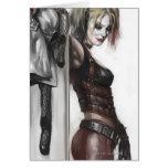Harley Quinn Illustration Greeting Cards