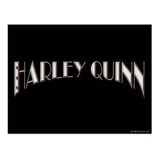 Harley Quinn - Logo Postcard