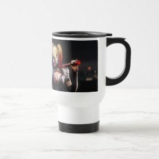 Harley Quinn With Bat Travel Mug