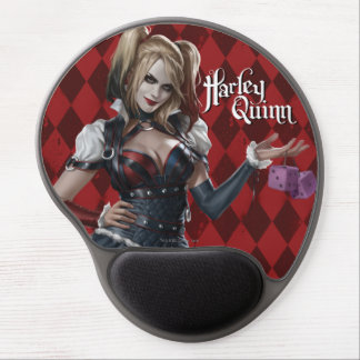 Harley Quinn With Fuzzy Dice Gel Mouse Pad