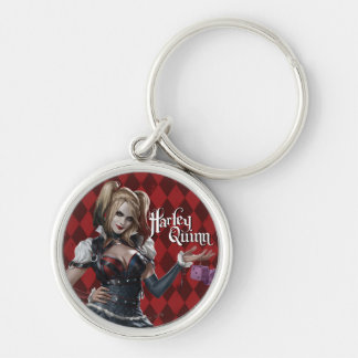 Harley Quinn With Fuzzy Dice Key Ring