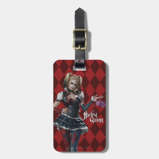 Harley Quinn With Fuzzy Dice Luggage Tag