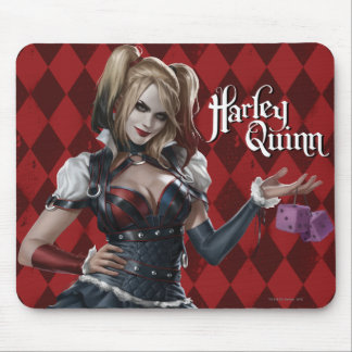 Harley Quinn With Fuzzy Dice Mouse Pad