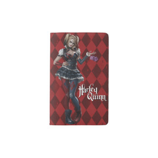 Harley Quinn With Fuzzy Dice Pocket Moleskine Notebook