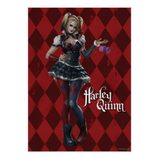 Harley Quinn With Fuzzy Dice Poster